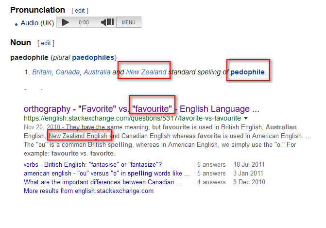TROLL New Zealand Spellings