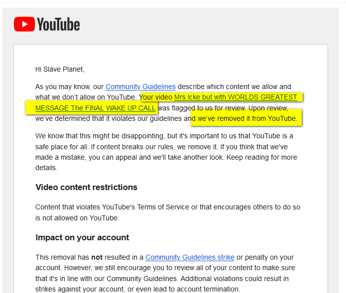WORLDS GREATEST MESSAGE The FINAL WAKE UP CALL BANNED On Youtube